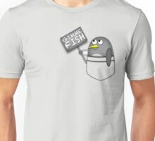 Pocket penguin wants fish Unisex T-Shirt