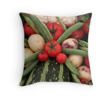 Vegplosion Throw Pillow