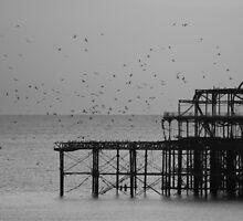 Brighton West Pier by AJM Photography