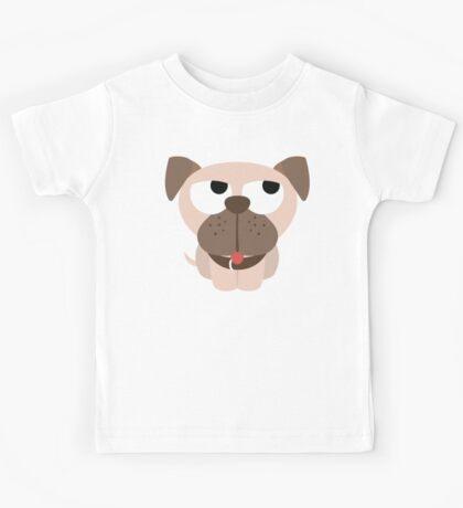 Pug Dog Emoji Thinking Hard and Hmm Look Kids Tee