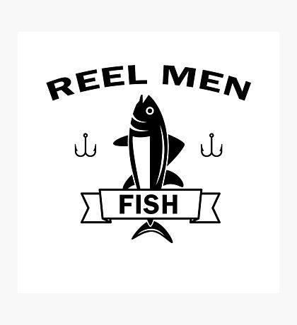 Reel men fish Photographic Print