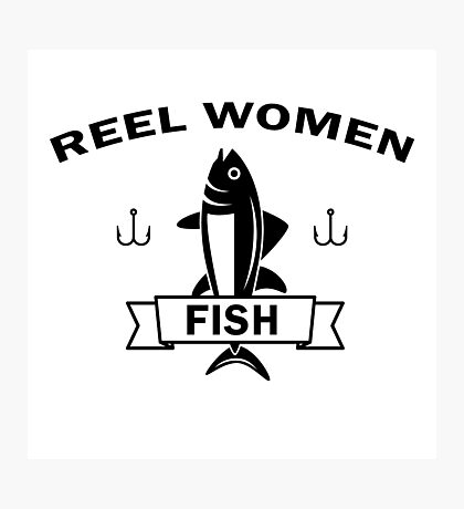 Reel women fish Photographic Print