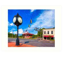 Small town Crossroads - Montezuma Georgia Art Print
