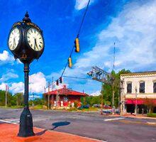 Small town Crossroads - Montezuma Georgia by Mark Tisdale