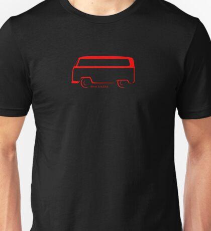 Bay Window Shape Bus VW Van Unisex T-Shirt