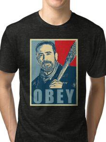 negan obey Tri-blend T-Shirt