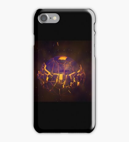 Exploding Planet - blue iPhone Case/Skin