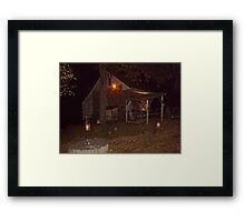 Ghostly Apparition Outside Stone Cottage, Sleepy Hollow NY Framed Print