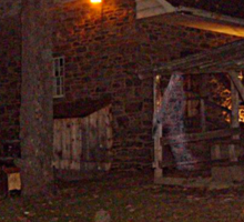 Ghostly Apparition Outside Stone Cottage, Sleepy Hollow NY Sticker