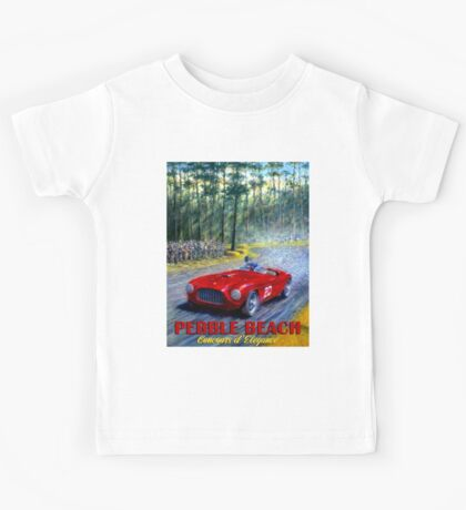 PEBBLE BEACH; Grand Prix Auto Print Kids Tee