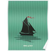 Sailing card Poster