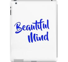 Beautiful Mind 6 Blue iPad Case/Skin