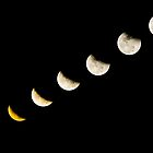 Lunar Eclipse Sequence by Karen Willshaw