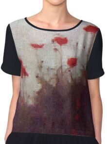Painted Poppies Chiffon Top