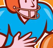 American Football Receiver Running Ball Shield Sticker