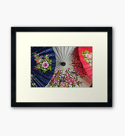 Paper Umbrellas of Thailand Framed Print