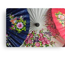 Paper Umbrellas of Thailand Metal Print