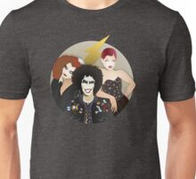 Musicals: The Rocky Horror Picture Show - Magenta, Frank, & Columbia Lineless Design Unisex T-Shirt