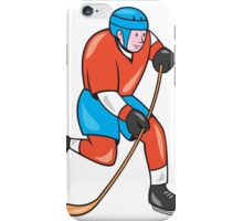 Ice Hockey Player With Stick Cartoon iPhone Case/Skin
