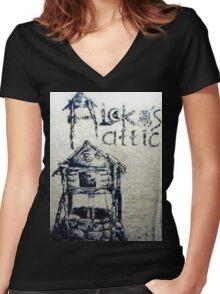 Aleka's Attic Women's Fitted V-Neck T-Shirt