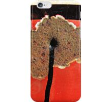Rust Flower With Black Stalk  iPhone Case/Skin