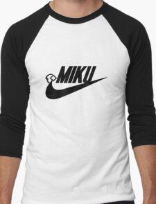 MIKU (blk) Men's Baseball ¾ T-Shirt