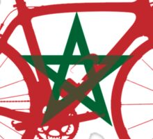 Bike Flag Morocco (Big) Sticker