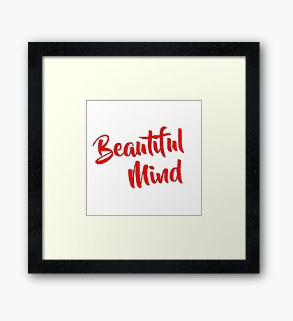 Beautiful Mind 6 Red Framed Print