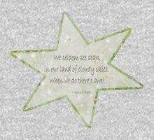 Star haiku on golden clouds Kids Tee
