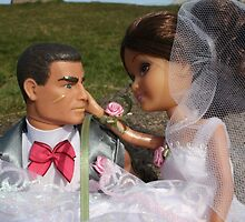 Barbie and Action man on Wedding day by shootingnelly