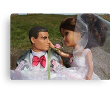 Barbie and Action man on Wedding day Canvas Print