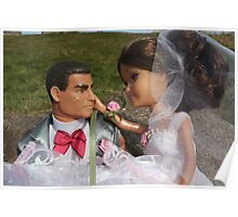 Barbie and Action man on Wedding day Poster