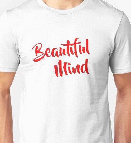 Beautiful Mind 6 Red Unisex T-Shirt