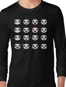 Emoji Panda Different Facial Expression Long Sleeve T-Shirt