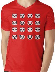 Emoji Panda Different Facial Expression Mens V-Neck T-Shirt