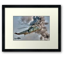 Royal Navy Sea King Helicopter Framed Print