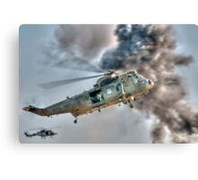 Royal Navy Sea King Helicopter Canvas Print