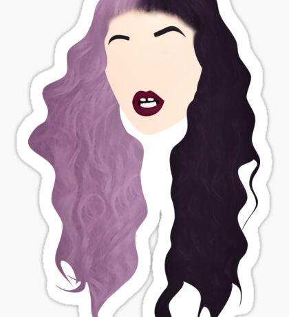 Half Colored Hair Sticker