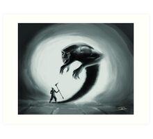 Shadows' chaser Art Print