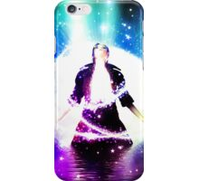 Colorful background with 3d man iPhone Case/Skin