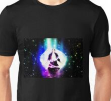 Colorful background with 3d man Unisex T-Shirt