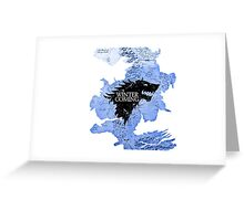 game of thrones-winter is coming Greeting Card