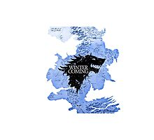 game of thrones-winter is coming Photographic Print
