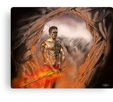 Fire warrior Canvas Print