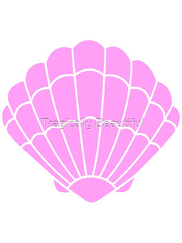 Quot Mermaid Shell Quot Stickers By Tragically Beautiful Redbubble