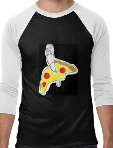 Classic 2014 Pizza Cult Design Men's Baseball ¾ T-Shirt