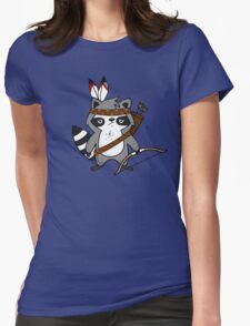 Apache The Raccoon Womens Fitted T-Shirt