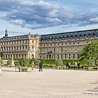 The Louvre, Tuileries Gardens, Paris, France by Elaine Teague