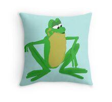 A frog prince Throw Pillow