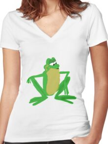 A frog prince Women's Fitted V-Neck T-Shirt